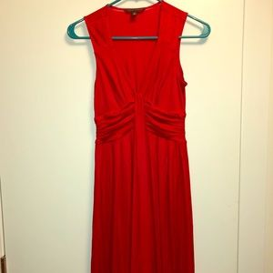 Banana Republic long red dress